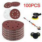 100pcs 125mm 8Hole 40/60/80/100/120 Grit Sanding Disc Random Orbit Hook and Loop