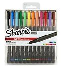 Sharpie Art Pens Fine Point Assorted Colors Hard Case 12 Pack NEW