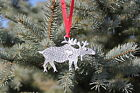 Hastings Pewter Lead Free Pewter Moose Ornament decoration holiday gift New
