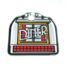 DINER Original Williams NOS Pinball Machine Plastic Promo Keychain w/ Jukebox