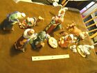 Large Ceramic Nativity Scene Set of 13 items Hand painted