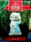 Christmas Kitty`1990`Dressed For Going Places,Hallmark Tree Ornament,Free To US