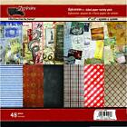 7 Gypsies 6x6 Epicurean Scrapbook Paper Pad 48 Double Sided Sheets NEW