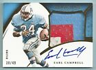 EARL CAMPBELL 2015 IMMACULATE COLLECTION 3 COLOR PATCH AUTOGRAPH AUTO 49