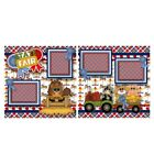 Printed Premade Scrapbooking 2 Page Layouts STATE FAIR animals blue ribbons