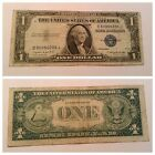 VINTAGE 1935-G RARE WITH MOTTO $1 SILVER CERTIFICATE WASHINGTON ONE DOLLAR BLUE