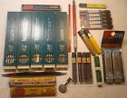 LARGE LOT OF VINTAGE PENCIL LEADS STILL USABLE WITH 2 PENCILS NEAT STUFF BIG LOT