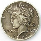 1921 Peace Dollar VF Very Fine 1 Silver High Relief Key Date