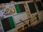Its a Zoo in Here Two 12x12 Premade Scrapbook Pages 4 Family Vacation