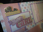 Adorable Baby Girl 4 12x12 Premade Scrapbook Pages 4 Family Gift