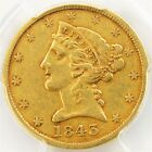 1843 Gold Liberty Half Eagle - PCGS XF40 - Certified & Graded $5 22K