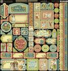 Pre Order Graphic 45 PENNYs PAPER DOLL FAMILY 12x12 Stickers Tags Borders