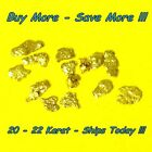 .100 Gram Natural Raw Alaskan Placer Gold Nugget Flake Fines Dust From Alaska