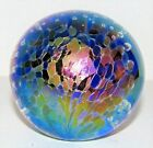 7. GES Glass Eye Studio Mini Iridescent Art Glass Paperweight Cont Air Bubble