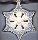 New in Box Wedgewood Pierced Snowflake Christmas Ornament
