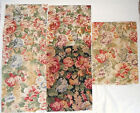 Fabric Remnants Samples Lot of 5 12x16 Raymond Waites Floral Pattern Penndale