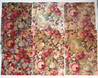 Fabric Remnants Samples Lot of 6 12x16 Raymond Waites Floral Pattern Abington