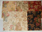 Fabric Remnants Samples Lot of 6 12x16 Raymond Waites Floral Pattern Clivedon
