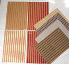 Fabric Remnants Samples Lot of 8 12x16 Raymond Waites Stripe Pattern Castille