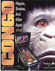 Williams CONGO Original 1995 NOS Flipper Arcade Pinball Machine Promo Flyer NM