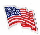 Wavy American Flag Girl Scouts Uniform Badge Patch NEW