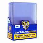50 SAF-T-GARD 3x4 Extra Thick 108 pt Top Loaders Cardholders #3043