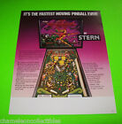 QUICKSILVER By STERN 1980 ORIGINAL NOS PINBALL MACHINE PROMOTIONAL SALES FLYER