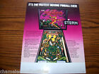 QUICKSILVER By STERN 1980 ORIGINAL SS PINBALL MACHINE SALES FLYER