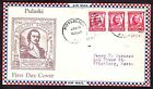 US 690 Strip of 3 on Roessler First Day Cover 003