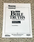 BJU Bob Jones 12th grade BIBLE TRUTHS Patterns for Christian Living Level F Test