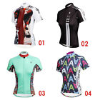 Womens Short Sleeve Jersey Top Tee Outdoor Sport Bike Cycling Bicycle Comfort