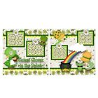 Printed Premade Scrapbooking 2 Page Layouts CUTEST CLOVER IN THE PATCH clovers