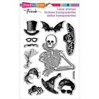 New stampendous RUBBER STAMP clear Acrylic HALLOWEEN SKELETON STYLE free us ship