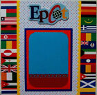 EPCOT DISNEY photo mat holds a 5X7 One 12X12 Premade Scrapbook Page