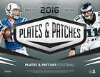 2016 PANINI PLATES AND PATCHES FOOTBALL FACTORY SEALED HOBBY BOX