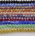 Wholesale AB Crystal Glass Faceted Rondelle Loose Spacer Beads 4 6 8 10 12mm