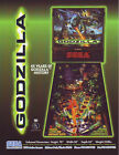Sega GODZILLA 1998 Original NOS Flipper Game Pinball Machine Promo Sales Flyer