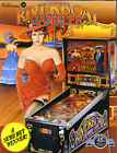 RIVERBOAT GAMBLER  WILLIAMS 1990 ORIGINAL NOS PINBALL MACHINE PROMO SALES FLYER