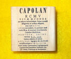 Capolan Limited Edition rubber stamp mail art journaling stamping wood mounted