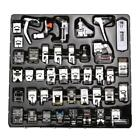 42 PCS Domestic Sewing Machine Foot Feet Snap On For Brother Singer Set SS6
