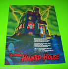 Gottlieb HAUNTED HOUSE 1981 Original NOS Pinball Machine Promo Flyer Fold-Out