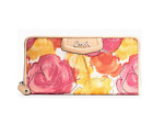 NWT Coach Ashley Floral Print Canvas Zip Around Wallet Purse F48780 Multicolor