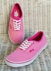 VANS AUTHENTIC OFF THE WALL LACE UP SNEAKERS Womens Size 75 Pink