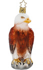 American Honor Bald Eagle Glass Ornament w Box by Inge Glas of Germany 406