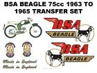 BSA Beagle 75cc 1963 to 1965 Full Transfer Decal Set Motorcycle Beagle on Tank