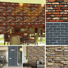 Vintage 3D Wall Paper Brick Stone Rustic Effect Self adhesive Wall Sticker