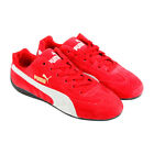 Puma Speed Cat Mens Red Suede Lace Up Sneakers Shoes 7