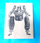 Stampers Anonymous jester clown art doll rubber stamp paper dolls mail art mount