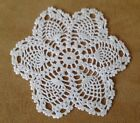 Vintage Hand Crocheted Round Doily Cotton Small Pineapple Design