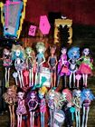 Huge Lot  Dressed Mattel Monster High Dolls With Accessories